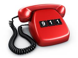 Red 911 phone