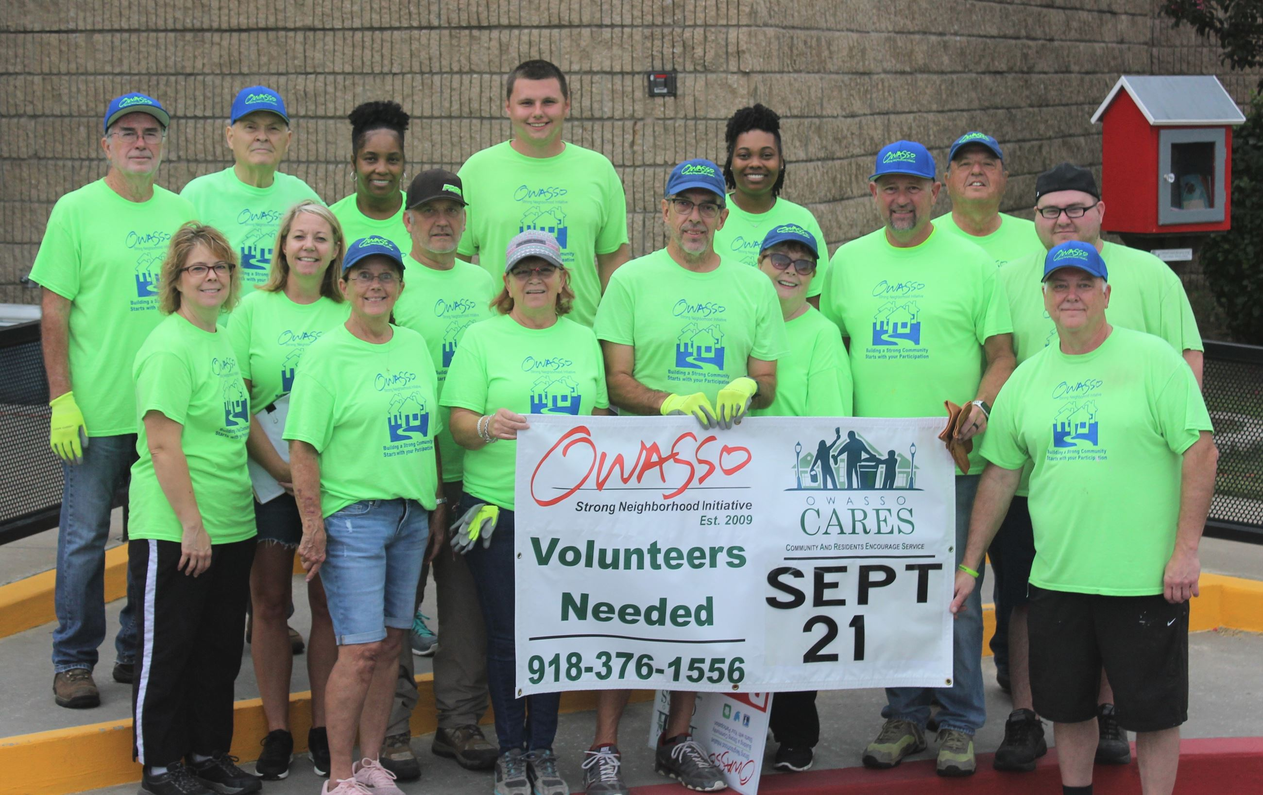 2019 Fall OSNI Owasso CARES Day of Service Leadership Team