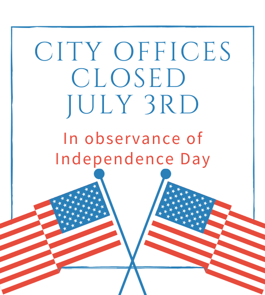 City offices closed July 3rd