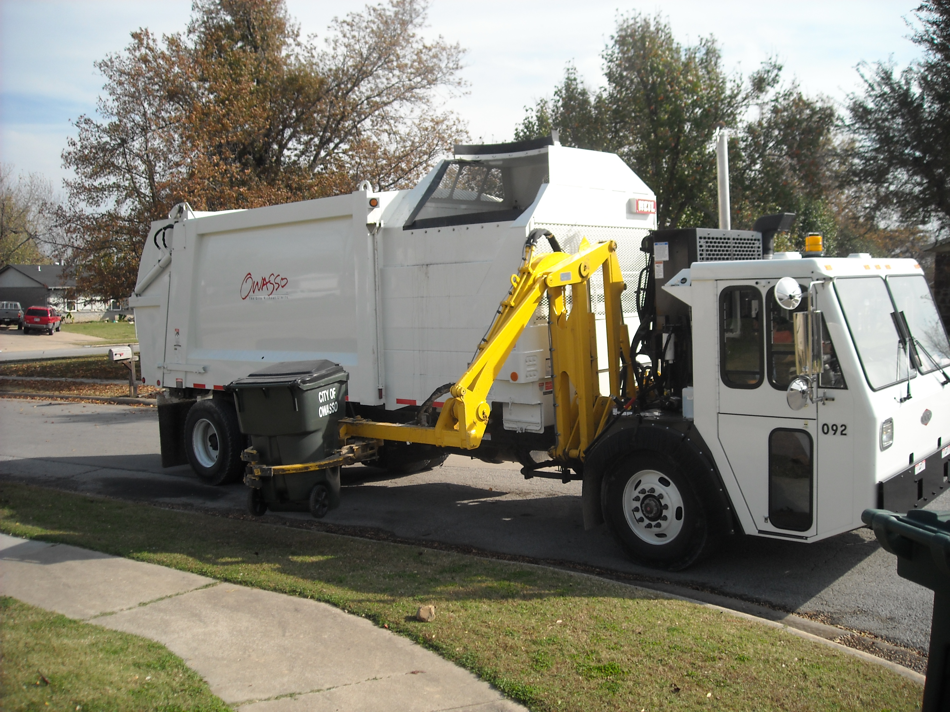 Trash and Yard Waste Collection Truck