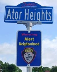 Ator Heights Sign Topper