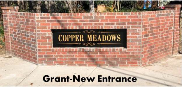 Copper Meadows New Entrance