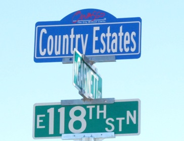 Country Estates Sign Topper