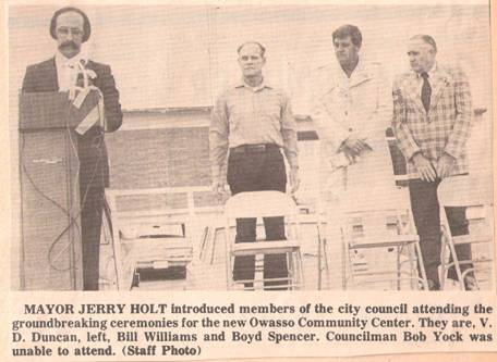 Newspaper clip about city council